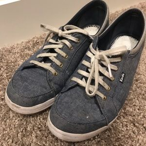 2/$20  Keds Ortholite Denim Lace Up Sneakers